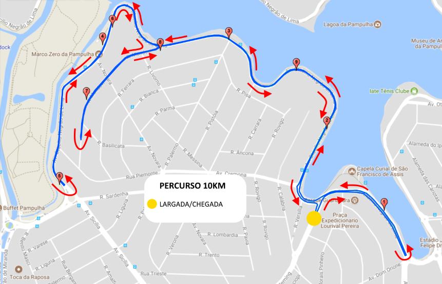 Corrida da Itatiaia - Percurso 10km