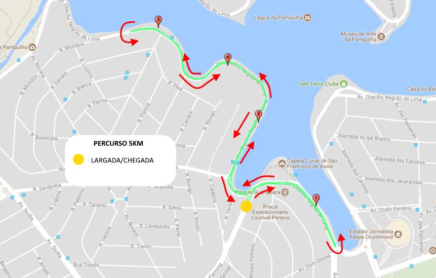 Corrida da Itatiaia - Percurso 5km