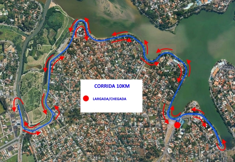 6ª Corrida do Cruzeiro - Percurso 10km
