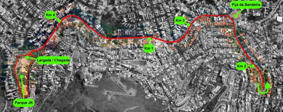 6ª Corrida e Caminhada Sicepot - Percurso