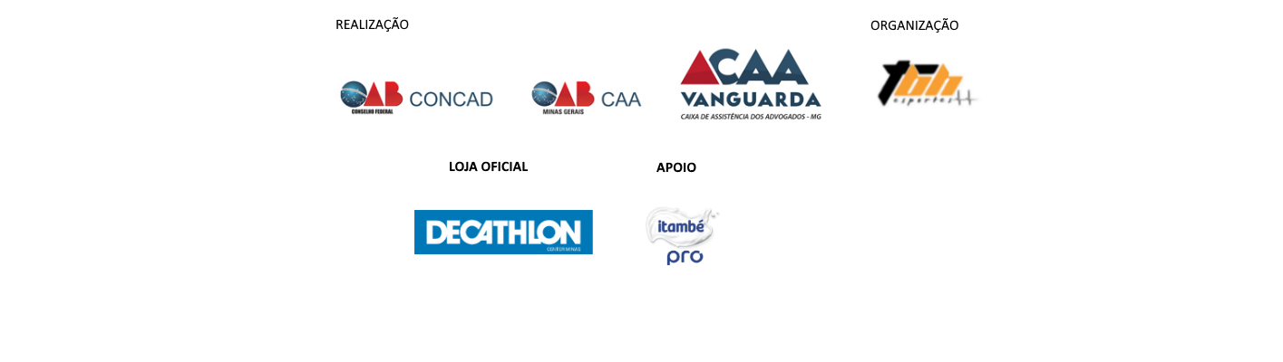 Meia Maratona Nacional da Advocacia - Etapa BH - Barra Logos