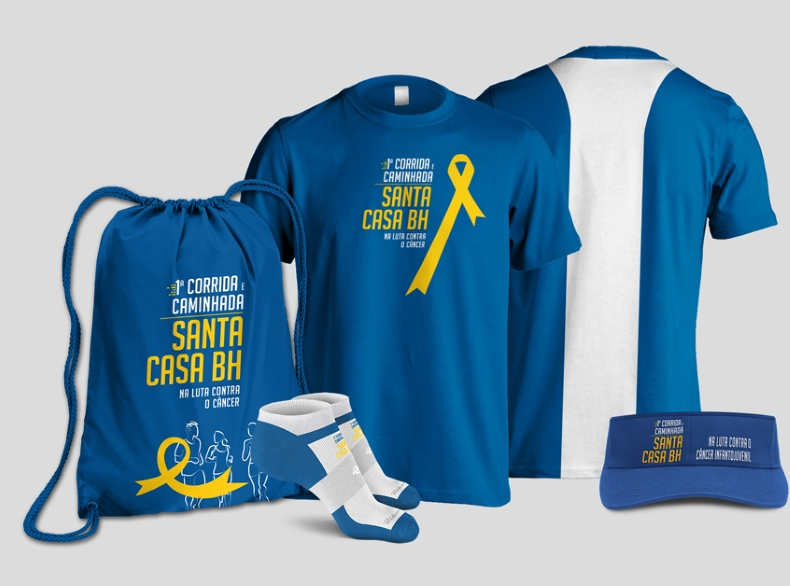 1ª Corrida e Caminhada da Santa Casa BH na Luta Contra o Câncer - Kit Atleta