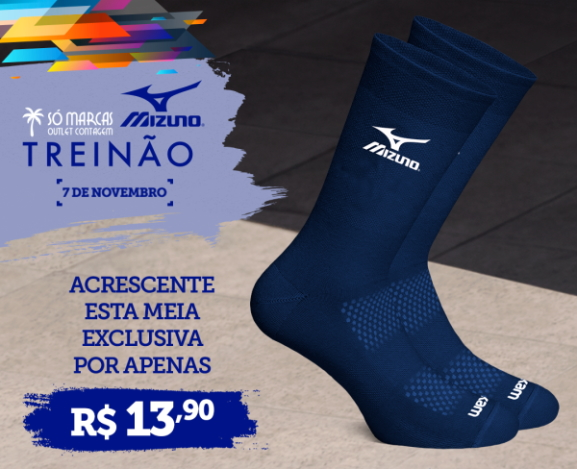 Treinão Só Marcas Mizuno Online Edition - Meia