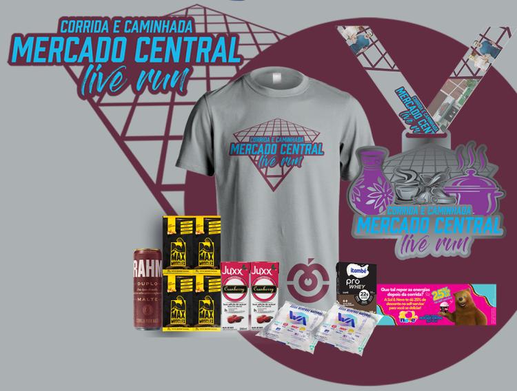 Corrida e Caminhada Mercado Central Live Run - Kit